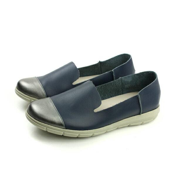 HUMAN PEACE:HUMANPEACE懶人鞋休閒鞋平底鞋舒適好穿藍色女鞋BB119no590