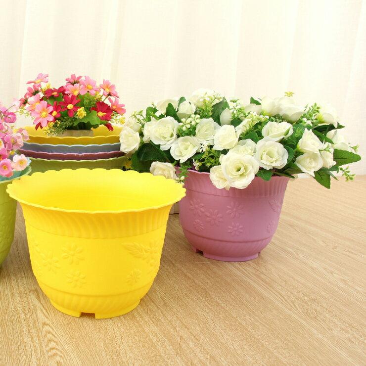 【省錢博士】多肉植物圓形花盆塑膠 / 創意大號園藝磨砂花盆 29元