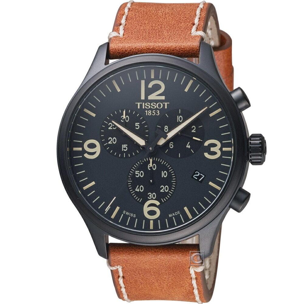TISSOT 天梭錶 韻馳系列 Chroyes XL 計時時尚腕錶 T1166173605700