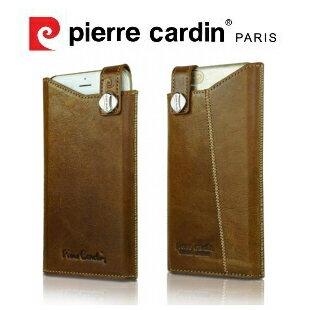 [ iPhone6/6S ] Pierre Cardin法國皮爾卡登4.7吋高級牛皮抽取式真皮手機套/保護套/皮套 棕色