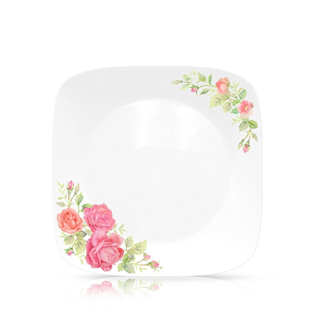 【美國康寧 CORELLE】薔薇之戀295ml方形小碗