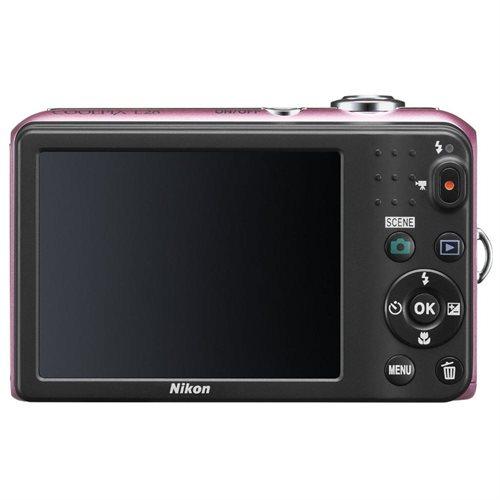 "Nikon Coolpix L28 20.1 Megapixel Compact Camera - Pink - 3"" LCD - 16:9 - 5x Optical Zoom - 4x - Digital (IS) - 5152 x 3864 Image - 1280 x 720 Video - PictBridge - HD Movie Mode 1"
