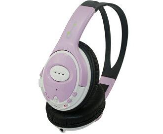 【PLUGO 普樂購】3合1耳機MP3-淺紫色/HP04FMPP