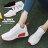 【KSA01】綁帶休閒鞋 運動鞋 慢跑鞋 透氣素色布面材質 3CM跟高 韓版運動風 2色 0