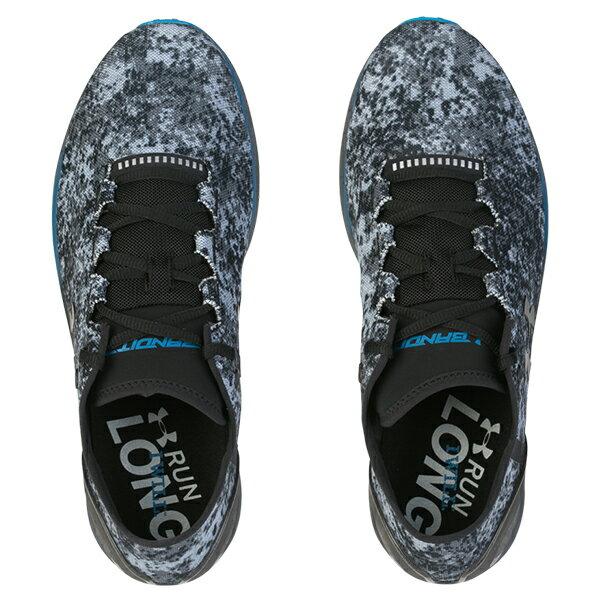 《出清5折》Shoestw【3000359-100】UNDER ARMOUR UA 慢跑鞋 Charged Bandit 3 Digi 點陣 迷彩 灰黑藍 男生尺寸 2