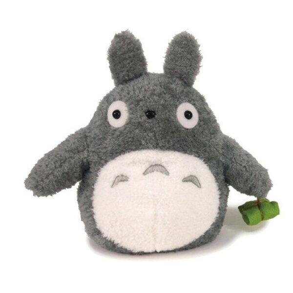 【真愛日本】18052400014輕綿柔娃M-提棕葉大灰龍貓宮崎駿龍貓TOTORO灰龍貓娃娃玩偶