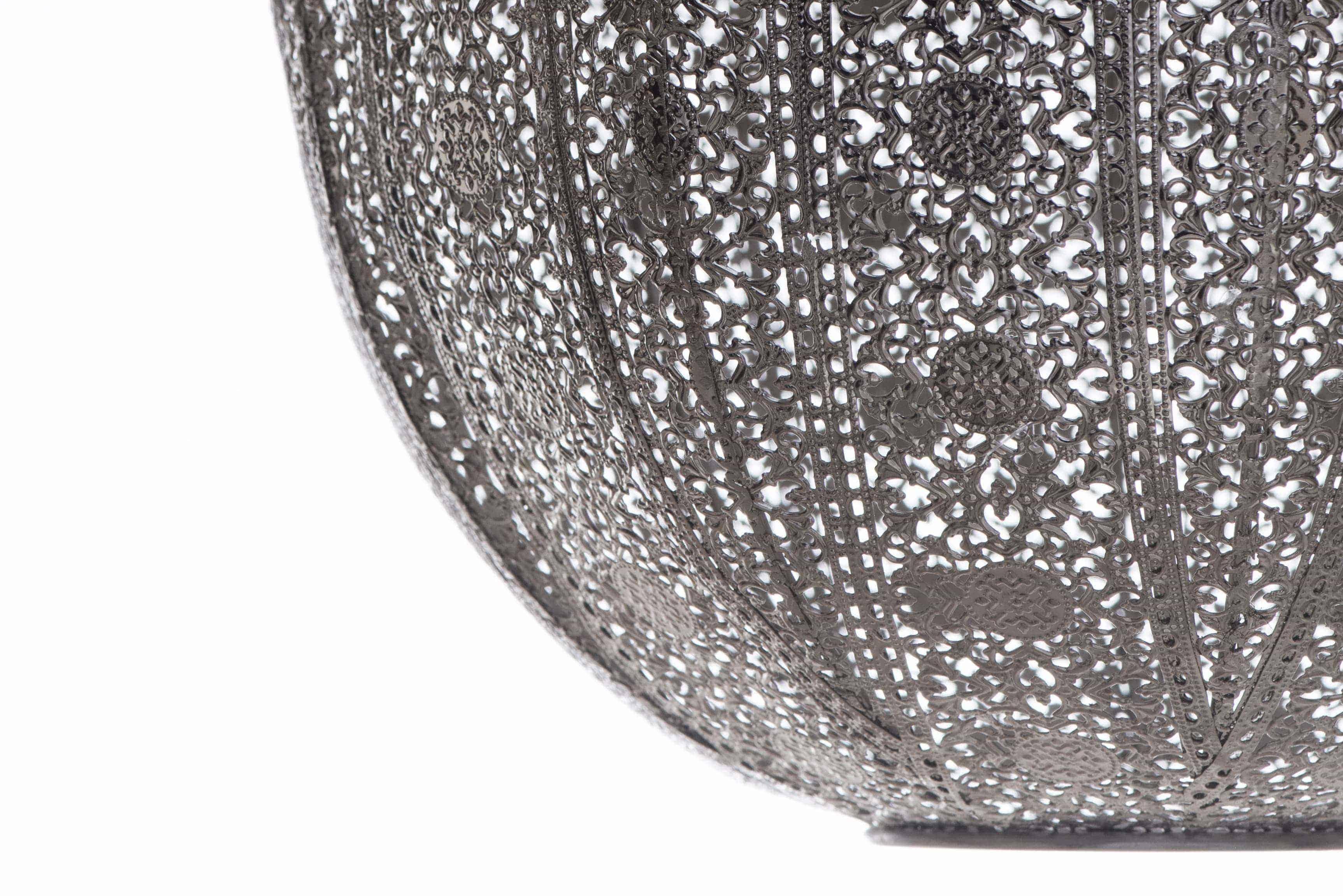 亮鎳蕾絲花邊圓形吊燈-BNL00076 7