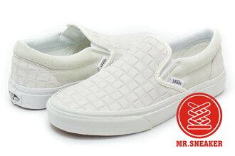 ☆Mr.Sneaker☆ VANS Slip-On Suede Checkers 懶人鞋 麂皮 棋盤 壓紋 米白 男女款