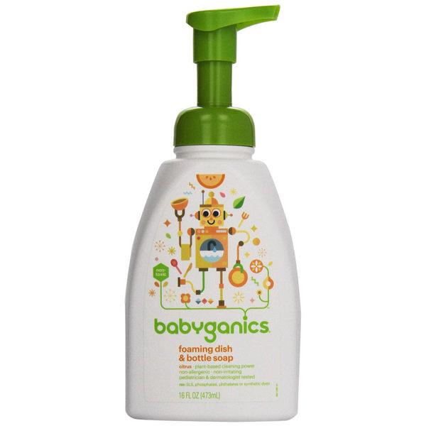 綠潔寶貝餐具清潔慕斯-柑橘味 16 OZ babyganics / 大地之愛