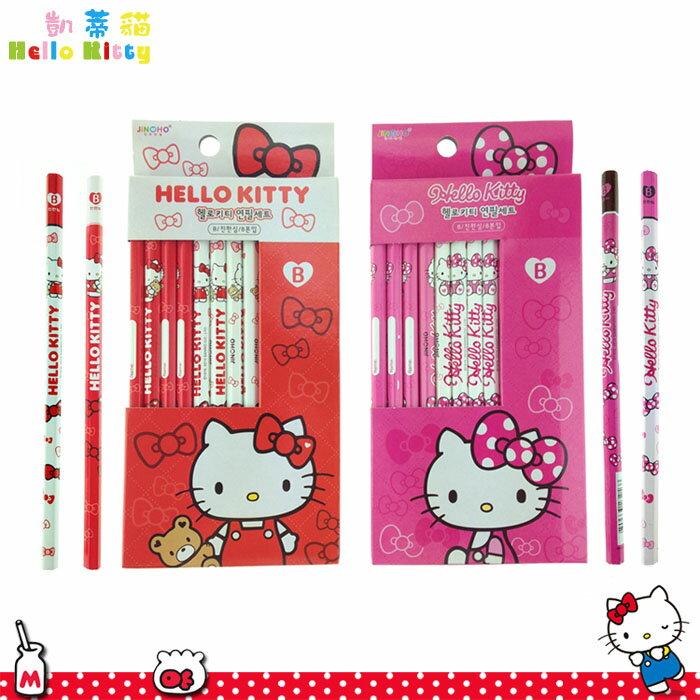 大田倉 韓國進口正版 三麗鷗 Hello Kitty 凱蒂貓 B鉛筆 8入 鉛筆組 文具用品  隨機出貨