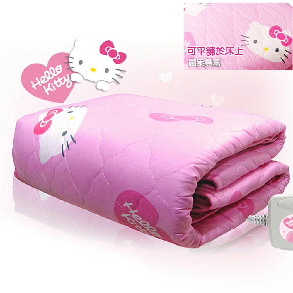 「 韓國進口、正版授權 」 韓國甲珍Hello Kitty電熱毯NHB-303雙人/床墊/電熱毯/可水洗