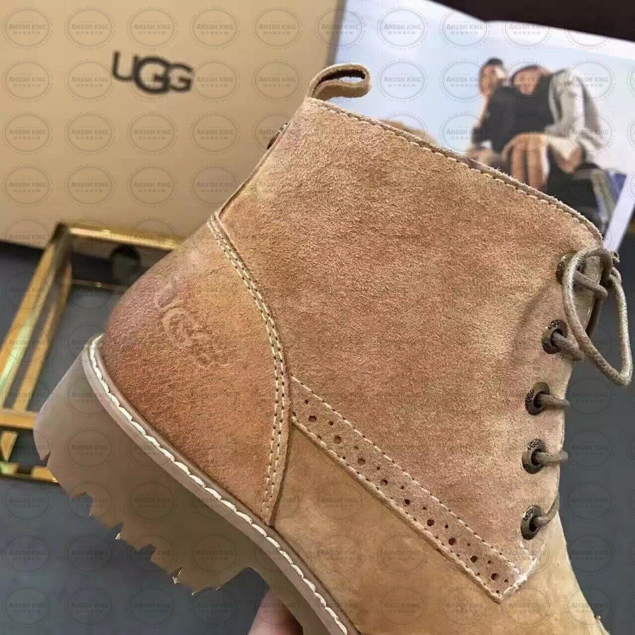 OUTLET正品代購 澳洲 UGG 女款加厚磨砂面 馬汀靴 中長靴 保暖 真皮羊皮毛 雪靴 短靴 駝色 2