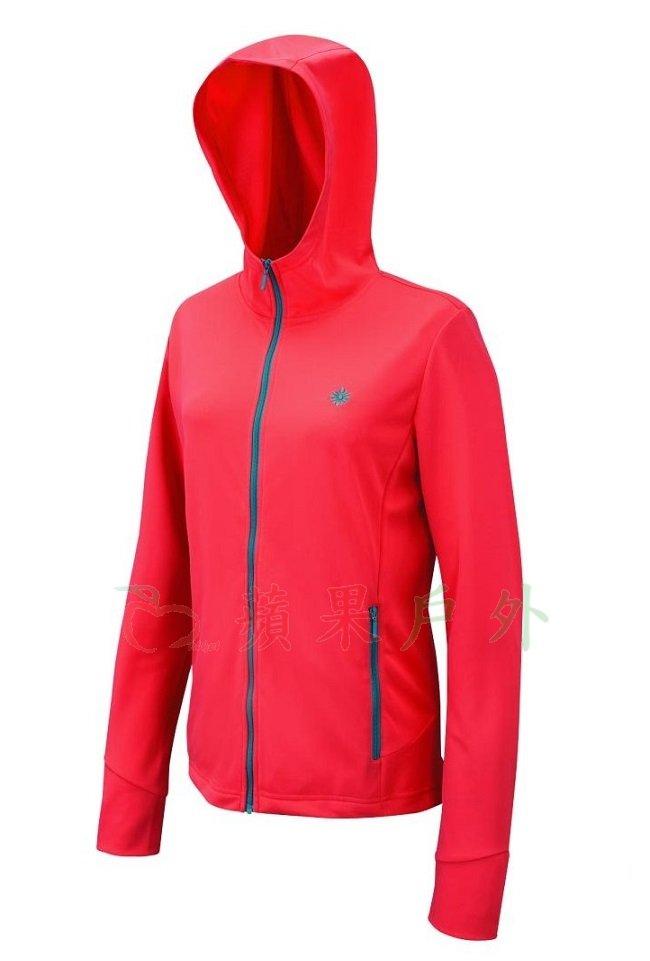 【【蘋果戶外】】山林 21J26-47 粉橘紅 Mountneer 女 透氣抗UV針織外套 防曬外套 透氣外套 抗UV外套