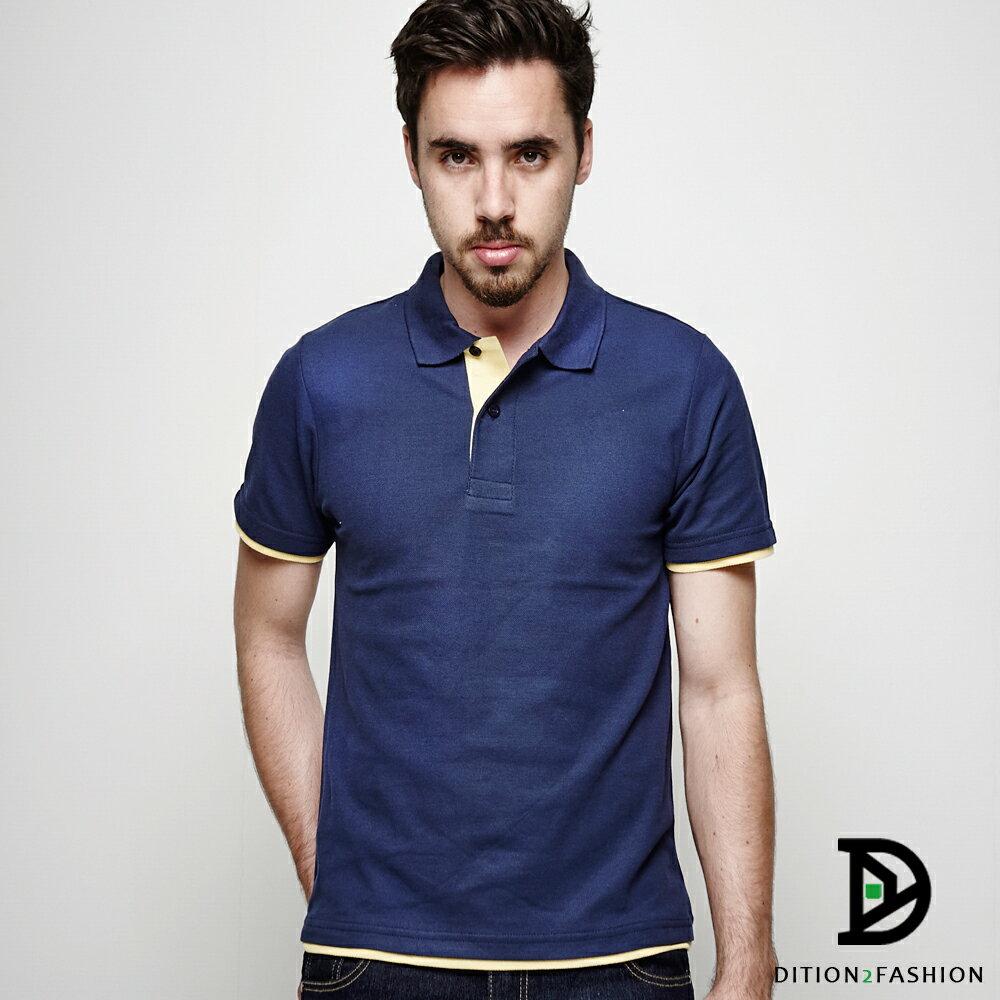 DITION 職人拼接雙色POLO衫 多尺寸情侶款 紳士休閒 4