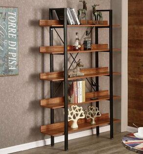 【尚品傢俱】JF-361-3艾丹4尺胡桃開放書櫃