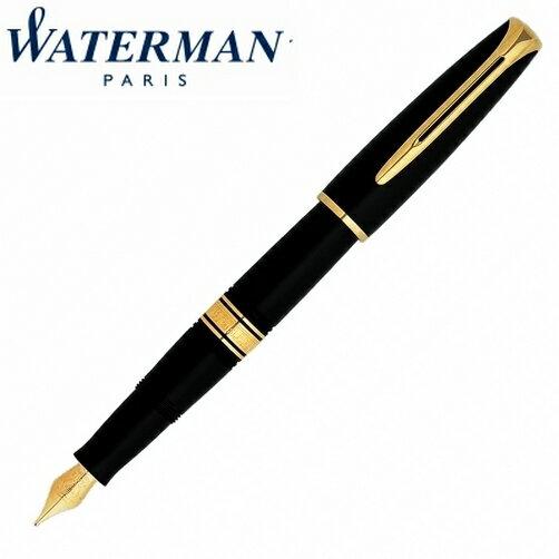 【華特曼WATERMAN】查理斯登系列黑桿金夾鋼筆18K筆尖FW0700980支