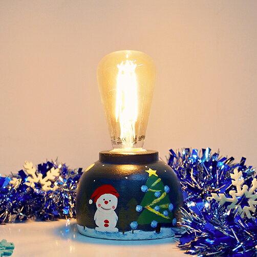 DeLife 聖誕氣氛水泥燈座- 附LED愛迪生燈泡 3