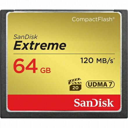 可傑 Sandisk Extreme CF 64GB 120MB/s 800X 極速 記憶卡 公司貨 終生保固 高階單眼用