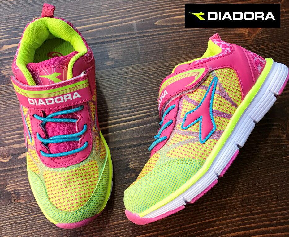 【剪標品出清-19號】義大利國寶鞋-DIADORA迪亞多納 女童輕量運動慢跑鞋