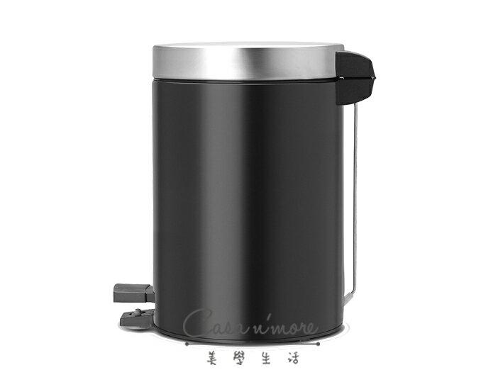 Brabantia 時尚垃圾桶 腳踏式垃圾桶 3L-霧黑 (賓士鋼材) 比利時製造 2