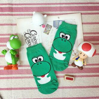 PGS7 日本卡通系列商品 - 正韓瑪莉歐 Mario 耀西 Yoshi 大臉 短襪 襪子 現+預 超級瑪莉 任天堂