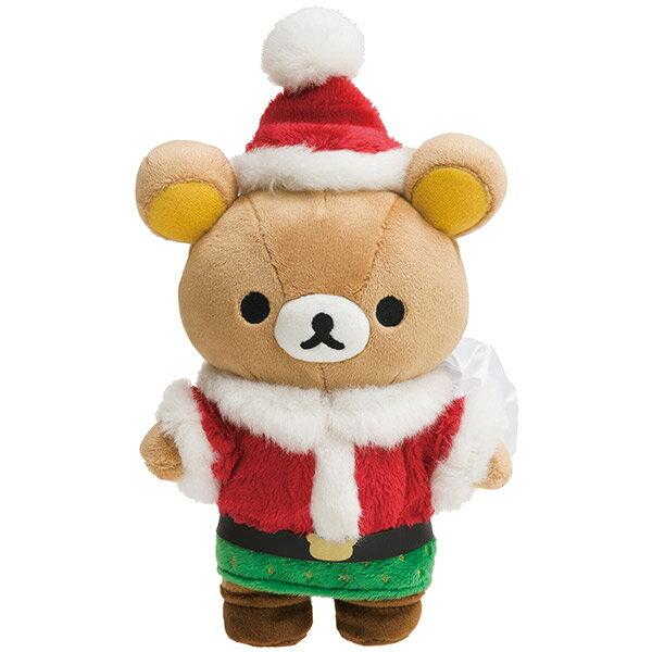 X射線【C697361】懶熊Rilakkuma聖誕限定公仔,玩偶娃娃擺飾絨毛填充玩偶玩具公仔椅子抱枕靠枕