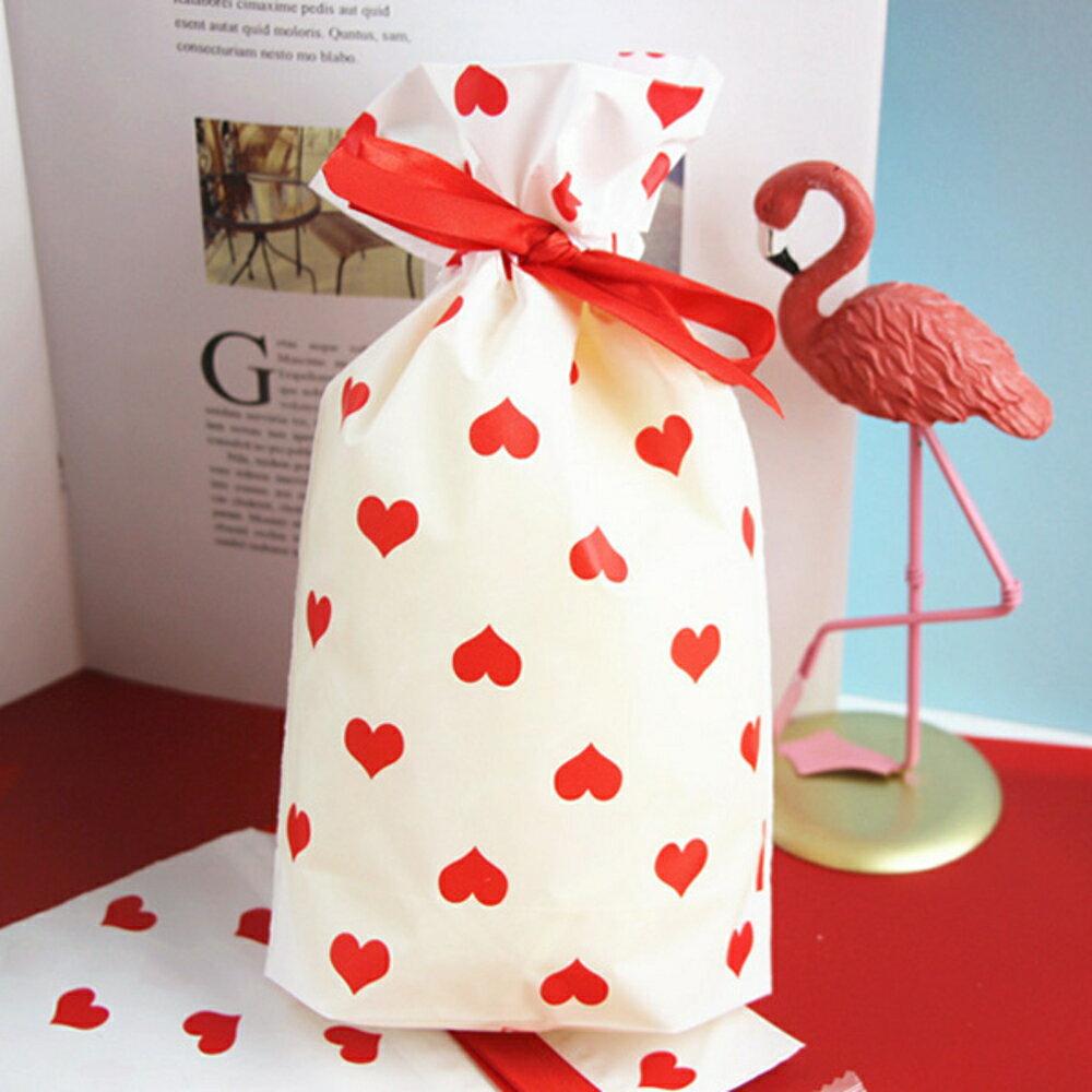 滿滿的愛心拉繩糖果袋 禮物袋 包裝袋【BlueCat】【JI2338】 0