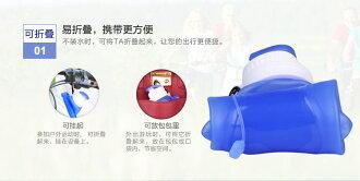 時尚矽膠安全摺疊水壺(顏色隨出貨)