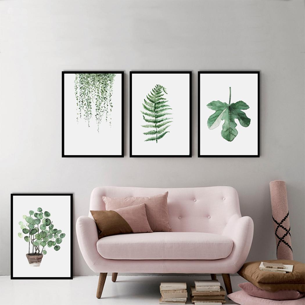 Plant Artwork Canvas Print Wall Art Home Wall Decoration 0