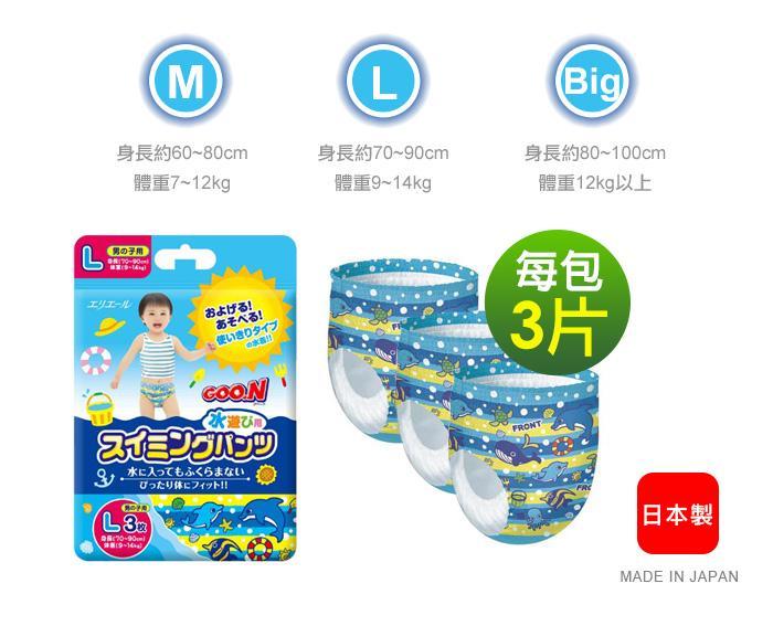 日本大王 GOO.N 戲水褲 男褲/女褲  M號  L號  XL號