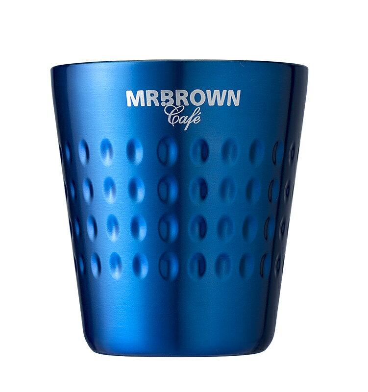 伯朗勃根地Espresso不鏽鋼雙層杯-藏青色