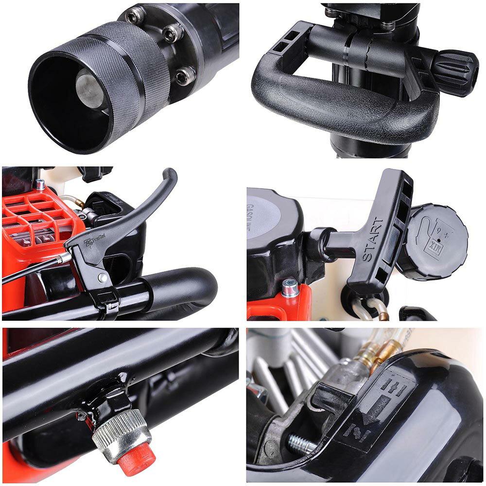 2in1 32.7cc Gasoline Demolition Jack Hammer Pile Piling Driver Chisel 2 Stroke w/ EPA Certification 5