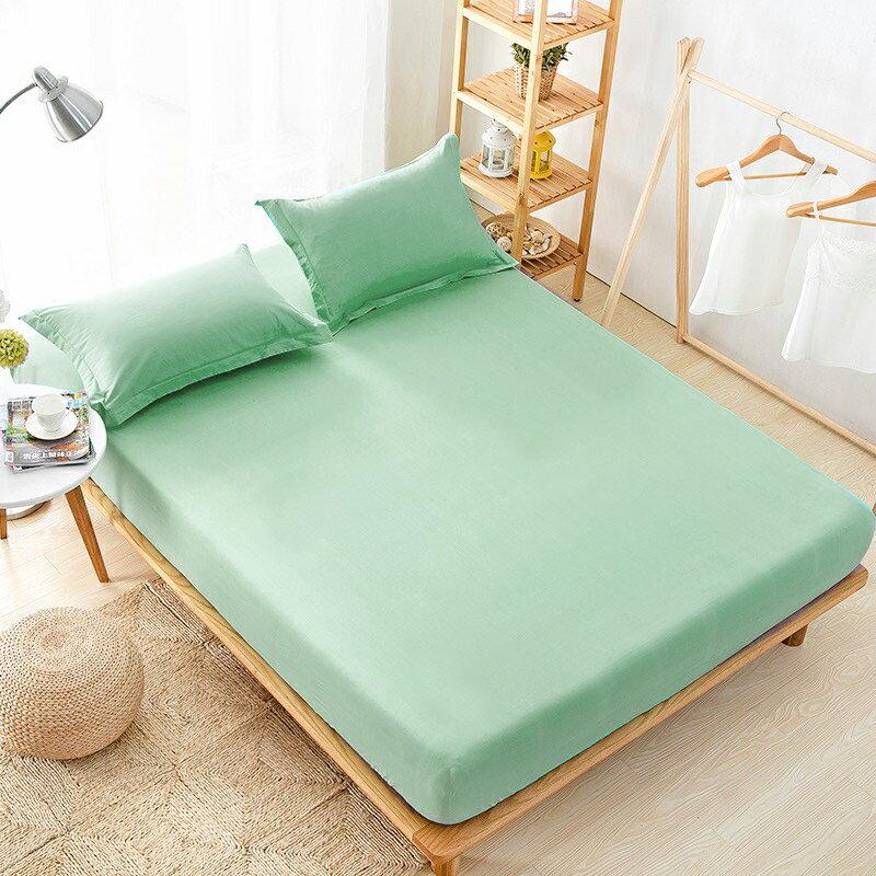 [滿額免運]100%防水 吸濕排汗床包保潔墊 枕套(果綠)[艾拉寢飾]