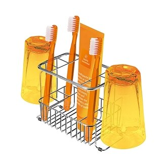 日本ASVEL不鏽鋼牙刷架(可放2杯6牙刷)