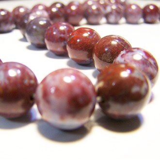 [鷄血瑪瑙]天然寶石 12mm圓形珠 diy飾品散珠 0