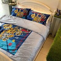 床包被套組 / 雙人【變形金剛-勇氣篇】混紡精梳棉,含兩件枕套,戀家小舖,台灣製