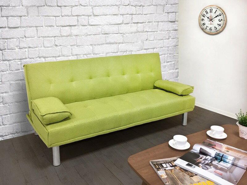 布沙發床 三人位沙發床 限時特價 三色可選 《心之綠洲》卡其 藍色 灰色 綠色 非 ikea 宜家  !新生活家具! 樂天雙12 4