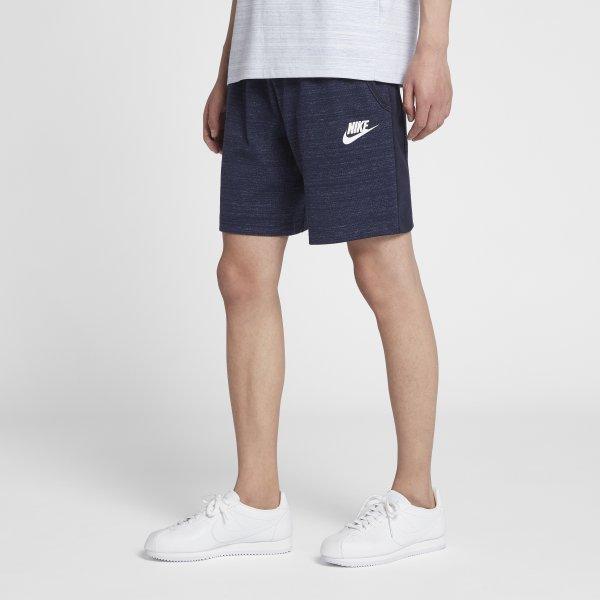 NIKESPORTSWEARADVANCE15男裝短褲休閒針織柔軟舒適深藍【運動世界】885926-451