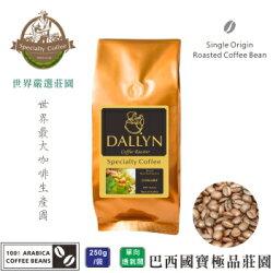 【DALLYN 】巴西國寶極品咖啡豆 Brasil Bourbon Santos (250g/包)    世界嚴選莊園咖啡豆