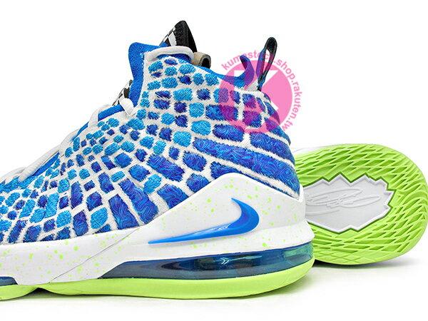 2020 NBA 最新款 LeBRON JAMES 最新代言 NIKE LEBRON XVII GS 17 SPRITE 大童鞋 女鞋 藍綠 雪碧 FLYKNIT 飛織鞋面 前 ZOOM AIR 後 MAX 氣墊 小皇帝 雷霸龍 KING LAKERS 頂級科技 籃球鞋 (BQ5594-434) 0320 3