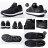 《限時特價799元》Shoestw【732220111】Champion Athletic 休閒鞋 襪套 黑灰 網布 女款 情侶鞋 1