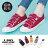 【KWF7587-1】帆布鞋韓版百搭經典 休閒素面棉質帆布 小白鞋 魔鬼氈魔術貼穿拖 1