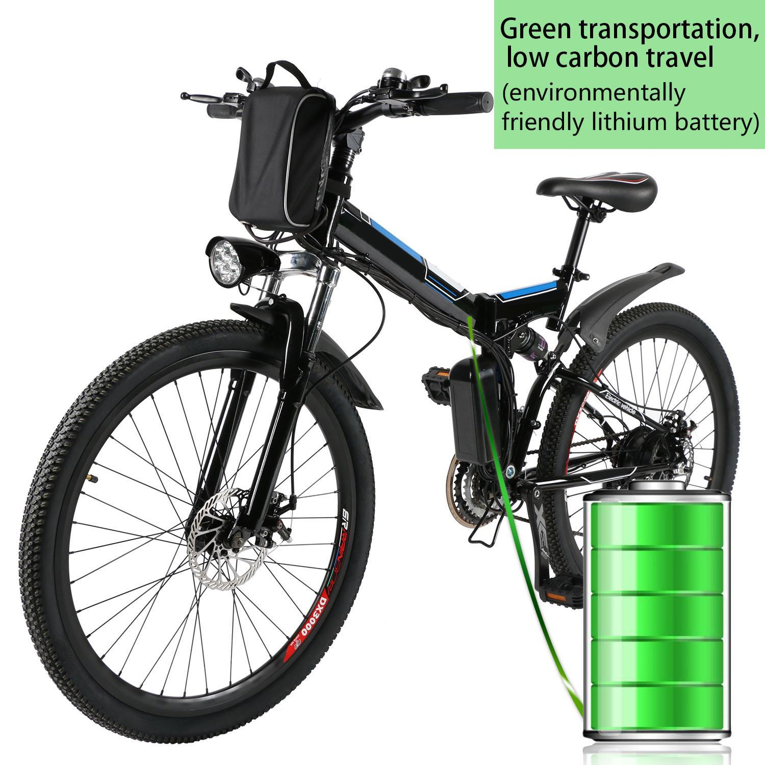 26inch 36V Foldable Electric Power Mountain Bicycle with Lithium-Ion Battery 0