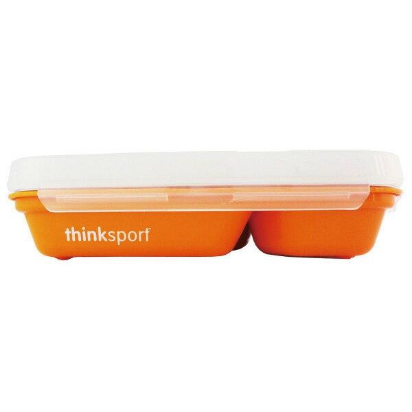 ★衛立兒生活館★ThinkBaby 環保不鏽鋼兒童餐盤組(附湯叉)-甜橙橘