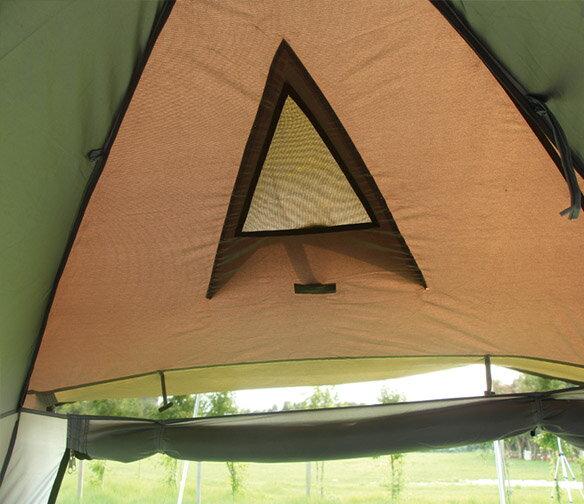 野樂全適能氣候帳 四面門可全開 四邊都有大型延伸屋簷  一房一廳 客廳帳 露營 戶外ARC-642 野樂 Camping Ace 3
