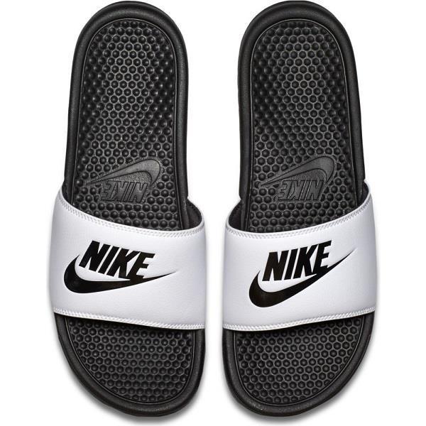 NikeBenassiJDI男鞋女鞋拖鞋休閒海綿白黑【運動世界】343880-100