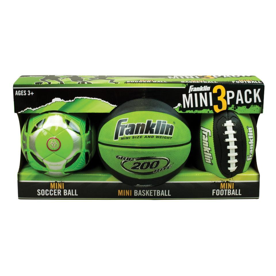 Franklin Mini Ball 3 Pack - Lime Green 0