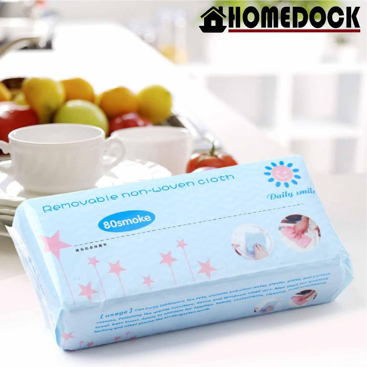 廚房抽取式一次性環保抹布 80抽 /衛生紙/紙巾/吸水/不織布/清潔