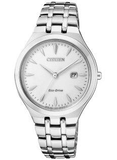 CITIZEN星辰錶EW2490-80B淬鍊風采光動能時尚腕錶銀32mm