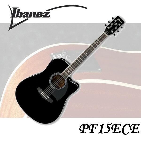 ~非凡樂器~Ibanez PF15ECE 電木吉他 黑色 規格 高 絕佳音質€